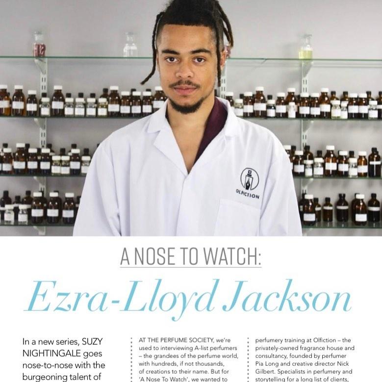 Ezra-Lloyd Jackson at Olfiction lab