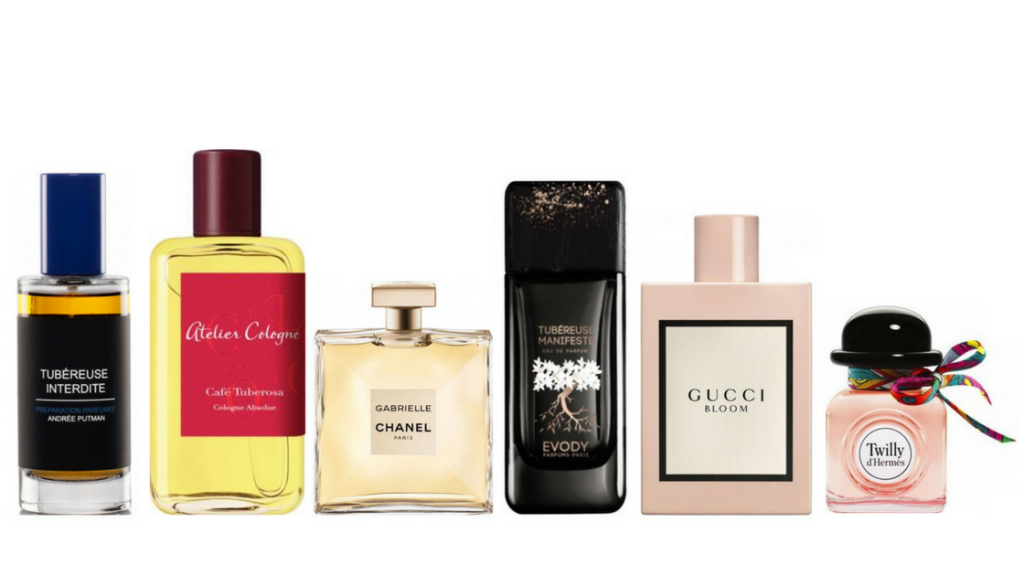 tuberose perfumes 2017 gabrielle chanel gucci bloom tubereuse cafe cafe tubereuse tubereuse manifeste twilly hermes